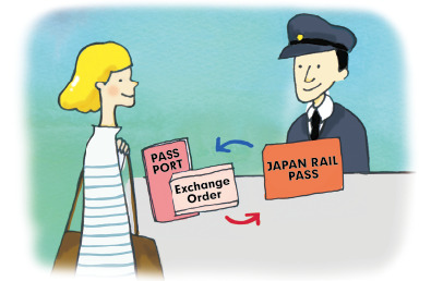 Present your Exchange Order and obtain your JAPAN RAIL PASS