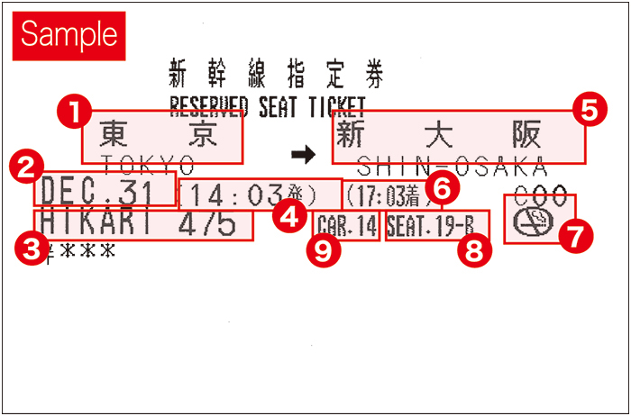 How to read reserved seat tickets